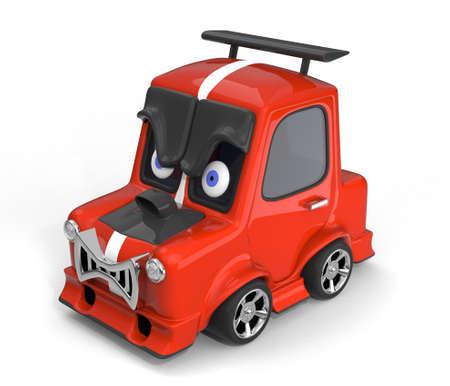 Aggressive sports car 3D illustration Stock Photo