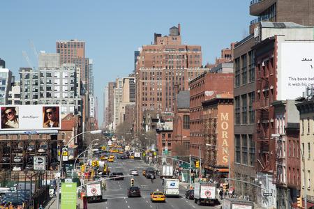 New York Old Brick Skyscraper