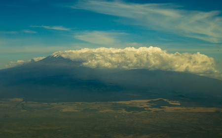 Cloudy View of Kilimanjaro from the Air