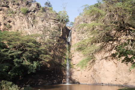 A small Waterfall in an African Semi-Desert Stock Photo