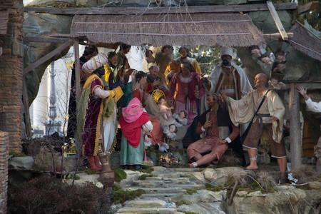 Christmas Cradle Stock Photo