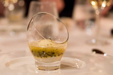 Lemon Sorbet in Fine Restaurant