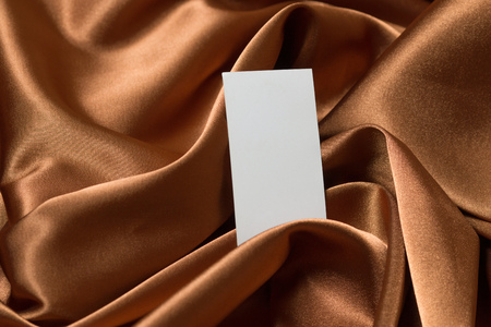 Greeting card with space for text on a luxury satin fabric Stock Photo