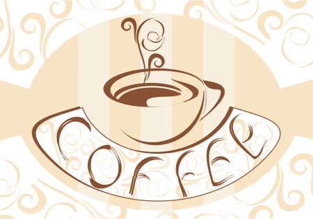 fond caf�: Caf� Fond �l�gant Illustration