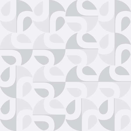 Soft seamless pattern in white and gray colors Vector Illustration