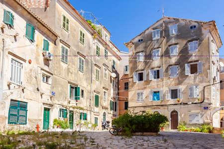 A small square in center of Corfu Town, Corfu, Greece