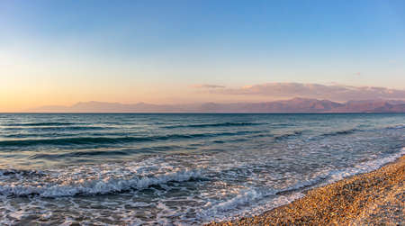 Panorama photo with a view from Acharavi, Corfu, Greece on the coast of Albania Reklamní fotografie