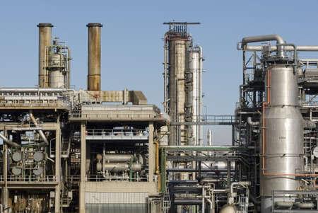 benzin: Raffinerieanlage bei Wien Stock Photo