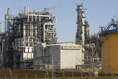 industrie: Raffinerieanlage bei Wien Stock Photo