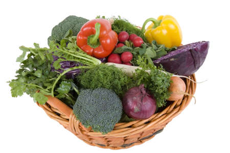 pflanze: fresh vegetable in a basket