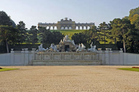 the gloriette: Gloriette, Vienna Stock Photo