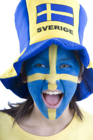 fanatics: Sweden Fan Stock Photo