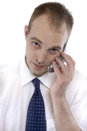 telephoning: Manager telephoning