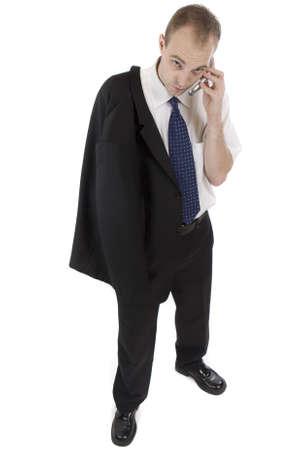 telephoning: manager telephoning Stock Photo