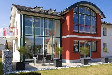 prefabricated building: Stylish house Stock Photo