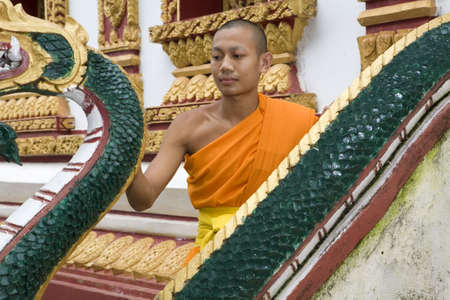 buddhismus: Buddhist novice in Laos