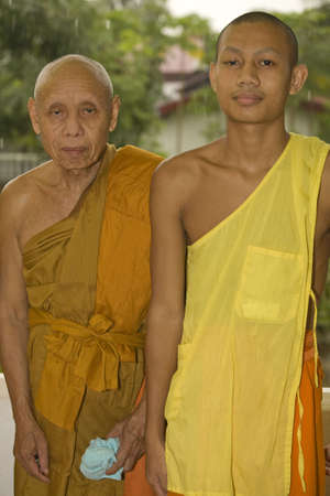 buddhismus: Buddhist monk and a novice, Laos Stock Photo