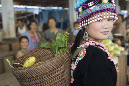 lao: Hmong femme Banque d'images