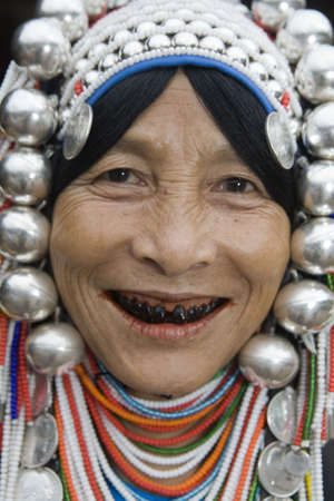 Akha women in Norththailand photo