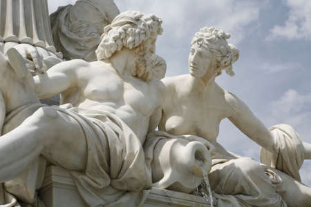 historically: statue before austrian parliament