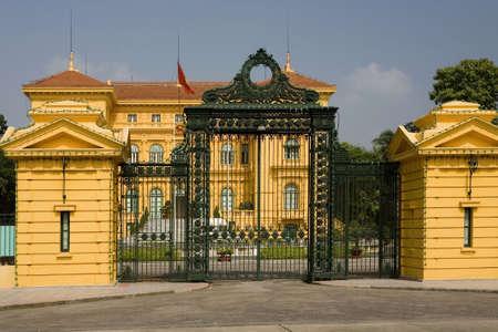 Ho Chi Minh, the Presidential Palace in Hanoi, Vietnam Stock Photo