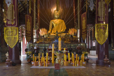 Wat Chedi Luang, indoor, temple in Thailand photo