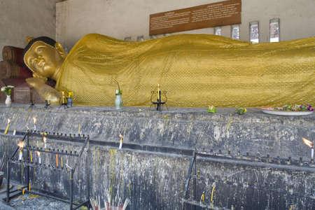 Buddha statue in temple Wat Chedi Luang, Thailand, Chiang Mai photo