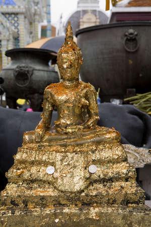 krung: Figures in the royal palace, bangkok Stock Photo