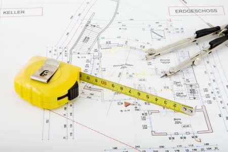 Bouwtekening voor de bouw van een huis