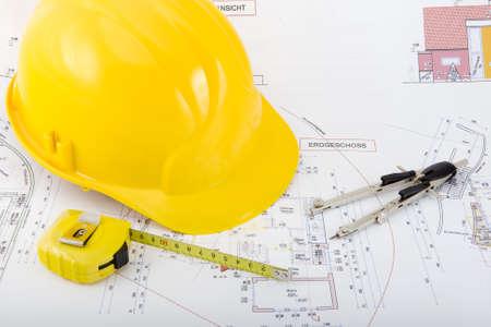 Bouwplan voor de bouw van een huis
