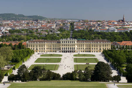 schoenbrunn: Schoenbrunn Palace, Vienna Stock Photo