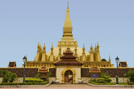 that: That Luang, temple in Laos