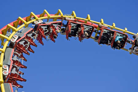 Roller coaster at the fairground