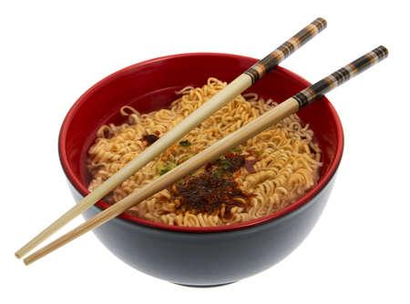 noodle soup: noodle soup asian with chopsticks