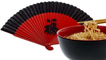 waft: noodle soup asian with chopsticks