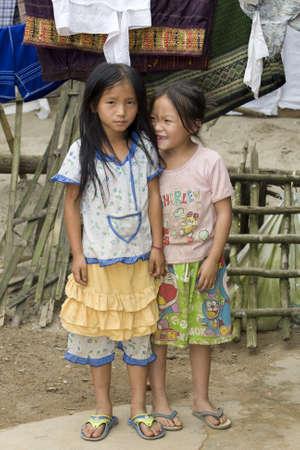 pursued: Portrait Hmong children in Laos