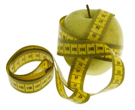 rearrangement: apple with measuring tape