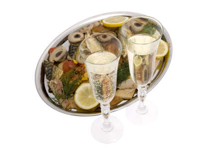 sylvester: Champagne with fish plate, ash wednesday and Sylvester