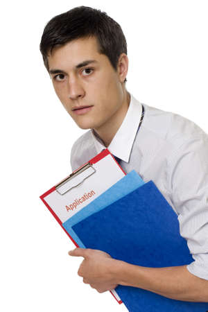Application job, with application document photo