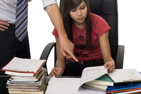 helps: private tuition, private coach helps student Stock Photo