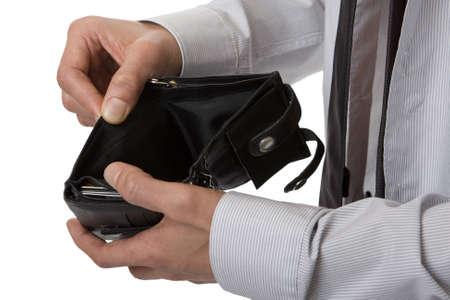 billfold: no money in the purse
