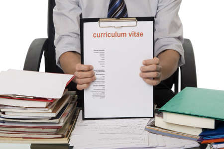 looking for a job: CV for application job Stock Photo