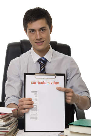 looking for work: CV for application job Stock Photo