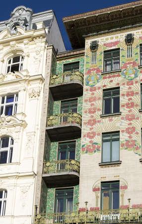 Viennese di architettura Art Nouveau, Otto Wagner Archivio Fotografico - 4184047