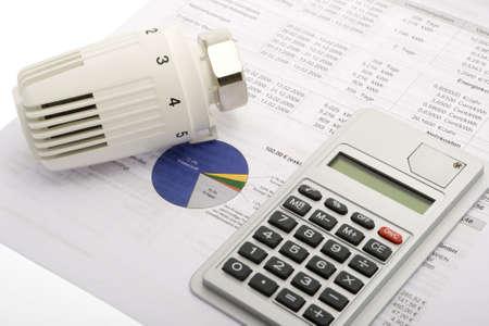 energy consumption: Energy costs Stock Photo