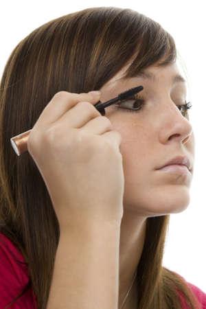 Portrait teenager with mascara Stock Photo - 4420298