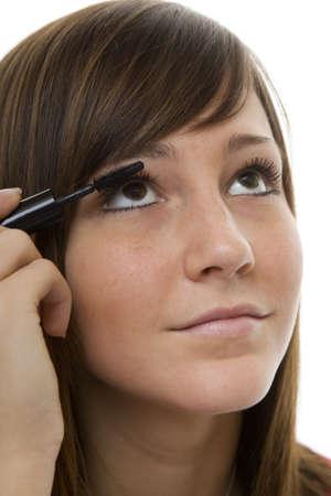 Portrait teenager with mascara Stock Photo - 4420307