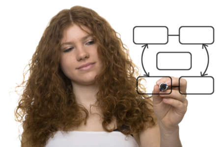 teenager in front of organization chart Stock Photo - 4439536