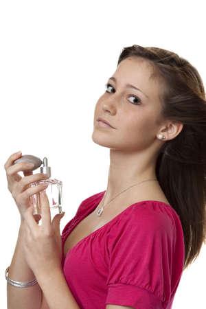 eau de perfume: Teenager with perfume