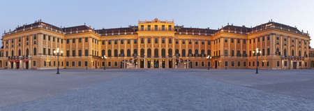 schoenbrunn: Vienna at night, palace schoenbrunn